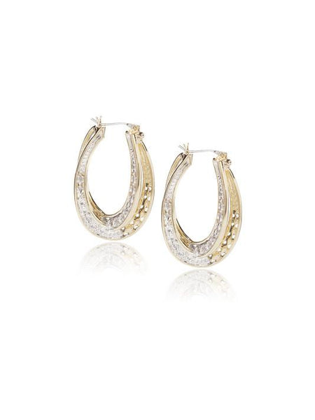 Pavé Double Oval Infinity Hoops by John Medeiros Jewelry Collections.