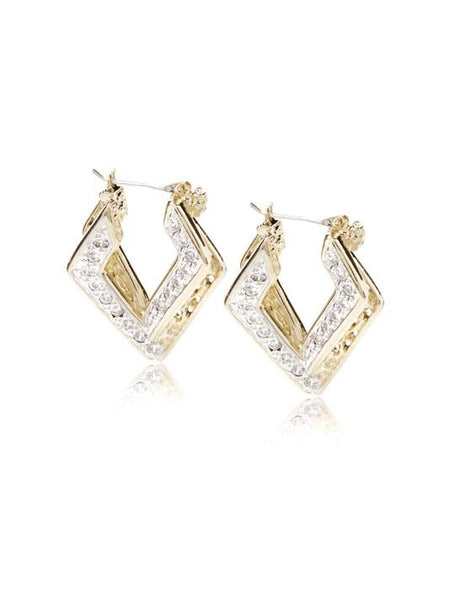 Pavé Double Diamond Hoops by John Medeiros Jewelry Collections.