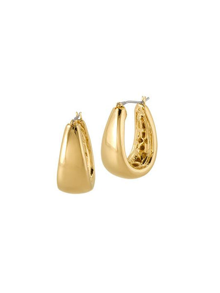 John Medeiros Antiqua Tailored Series Large Gold Earrings