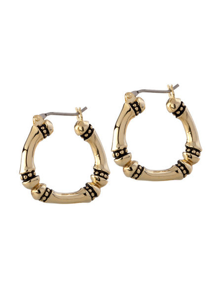 Canias Gold Collection Medium Hoop Earrings