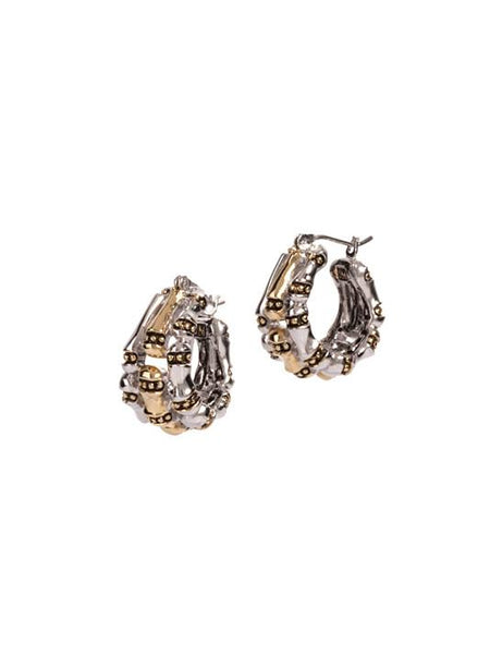 Canias Collection Three Row Hoop Earrings