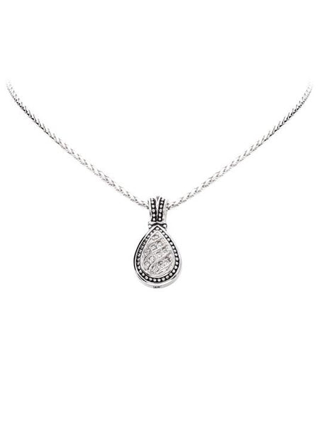 Pavé Tear Drop Slider with Chain by John Medeiros Jewelry.