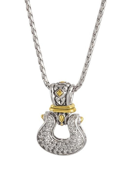 John Medeiros Anvil Pavé Horseshoe Pendant with Chain