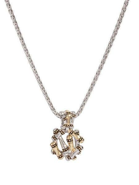 Canias Collection Round Pendant with Chain
