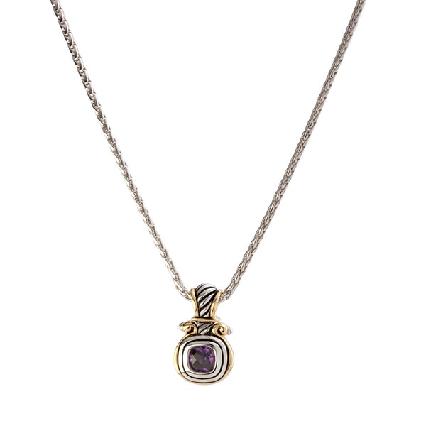 Anvil Color CZ Small Slider with Chain
