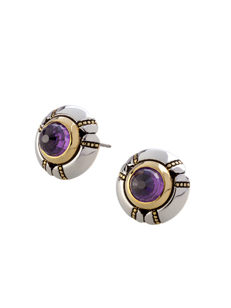 Canias Cor Collection Large Bullet Post Earrings
