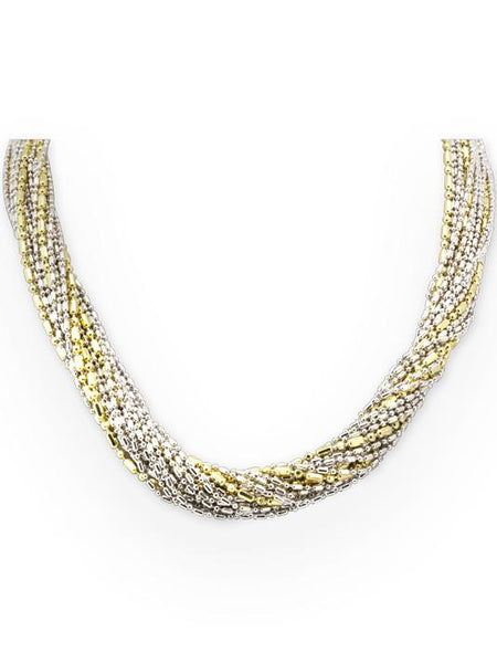 John Medeiros Beaded 20 Strand Caviar Necklace