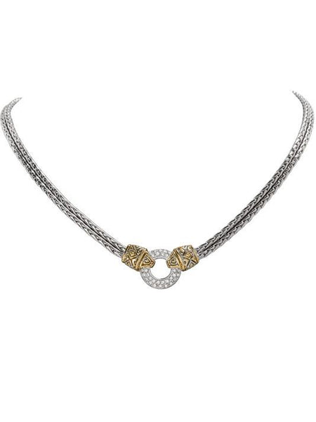 John Medeiros Antiqua Pavé Circle Double Strand Necklace