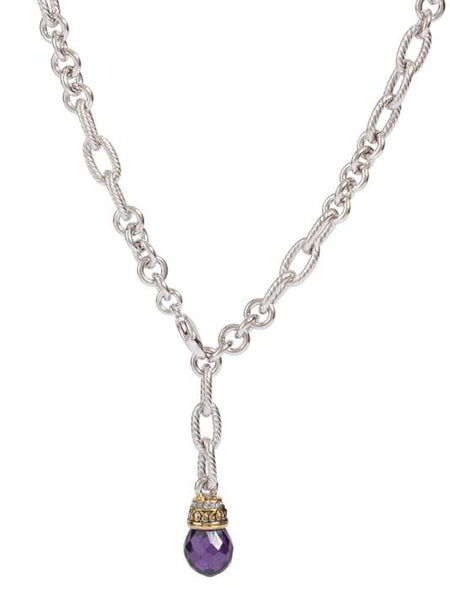 Briolette Single Drop Necklace