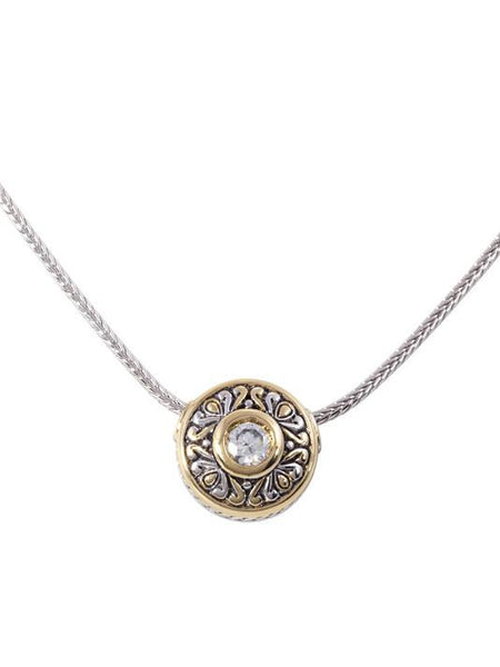 John Medeiros Antiqua Sliding Circle Pendant on Chain