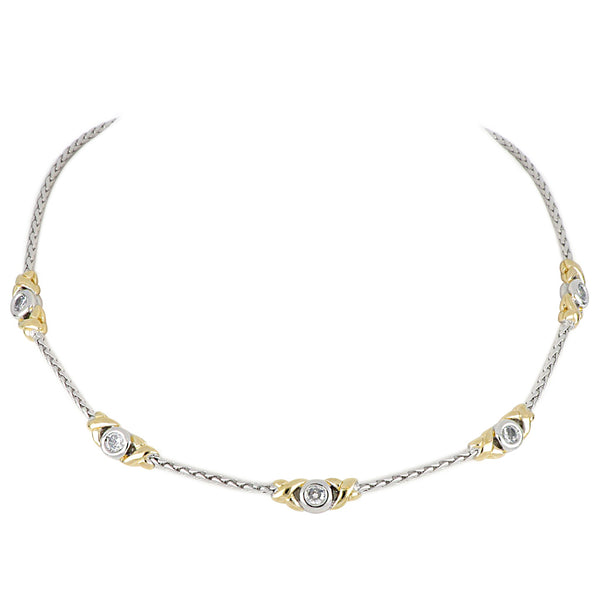 Antiqua 5 Station Circle Necklace