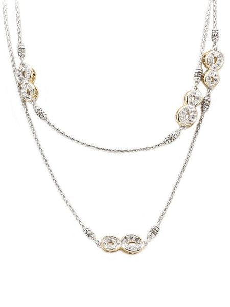 "Pavé Infinity Necklace with Clasp - 32"" by John Medeiros Jewelry Collections."