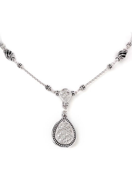Ocean Images Sparkling Seas Pavé Teardrop Necklace