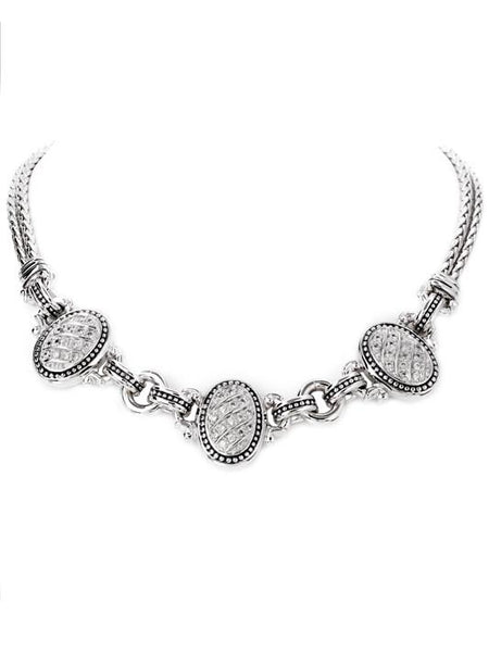 3 Station Pavé Necklace by John Medeiros Jewelry Collections.