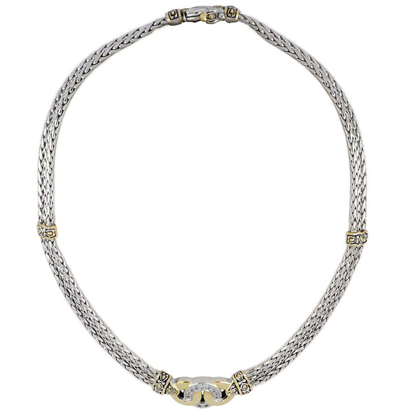 Antiqua Three Circle Pavé Necklace