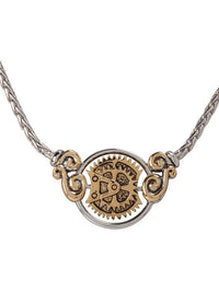 John Medeiros Two Tone Anvil Collection - Gears of Time Edition - Centerpiece Necklace
