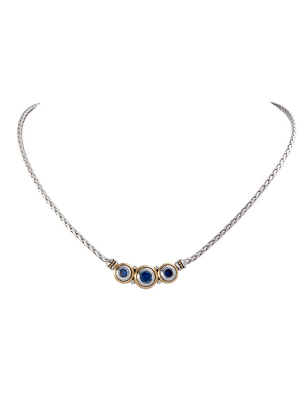 Beijos CZ Three Stone Necklace