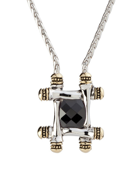 Canias Cor Collection Square Pendant Necklace
