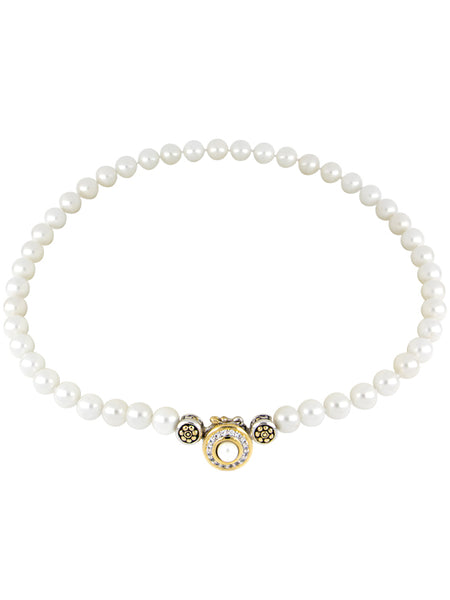 Pérola Pavé & White Seashell Pearl Strand Necklace