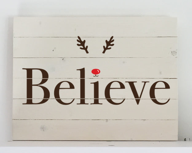 Believe Wood Sign Kit