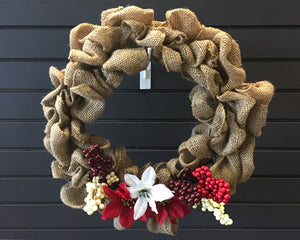 NOV 1 ~ 7:30pm-9:30pm: Holiday Burlap Wreaths [Ages 14+]