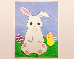Easter Bunny with Eggs Painting Kit