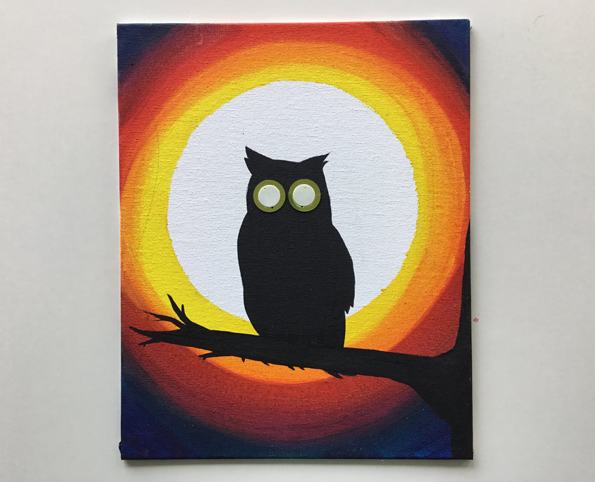 OCT 30 ~ 5-7pm: Kid's Halloween Owl Paint Party [Ages 6-11]
