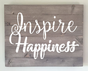 Inspire Happiness Wood Sign Kit