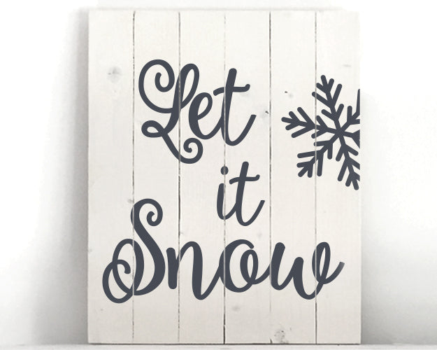 Let It Snow Wood Sign Kit
