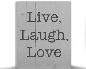 Live, Laugh, Love Wood Sign Kit