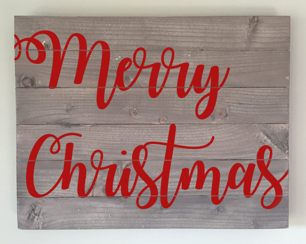 Merry Christmas Wood Sign Kit
