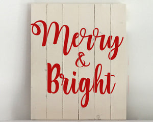 Merry & Bright Wood Sign Kit