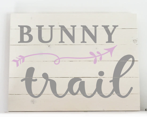 Bunny Trail Wood Sign Kit