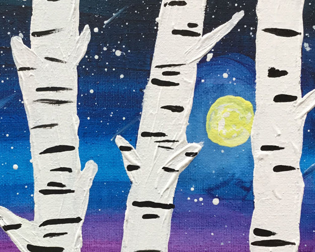 Let's Paint: Woodland Birch Forest - Reservation