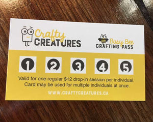 Crafting Pass for 5 Drop In Sessions