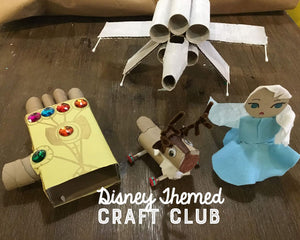 DISNEY: JAN 12 - FEB 16 (6 Weeks) 9am-10:30am Craft Club [Ages 6-12]