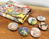 Comic Marble Magnets - Reservation