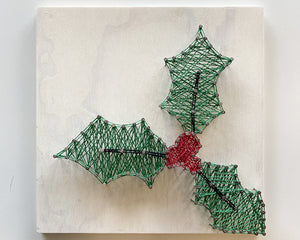 Holiday Holly String Art