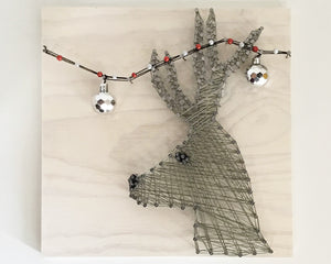 Tangled Reindeer String Art