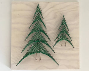 Pine Trees String Art