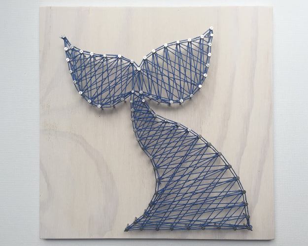 Whale Tail String Art