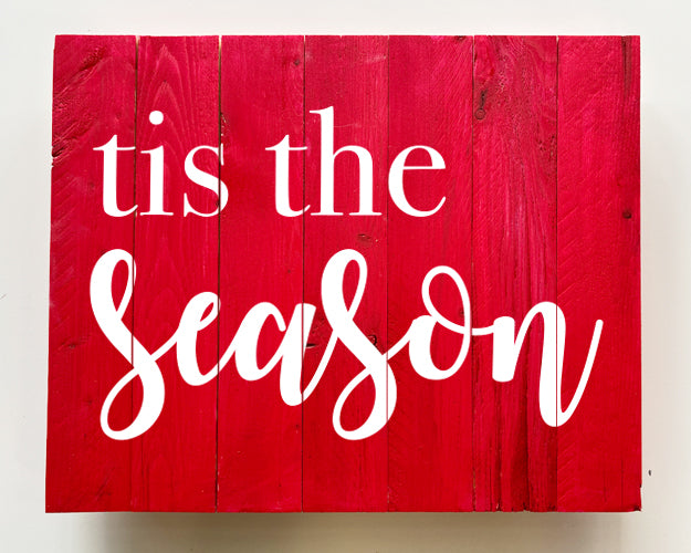 Tis the Season Wood Sign Kit