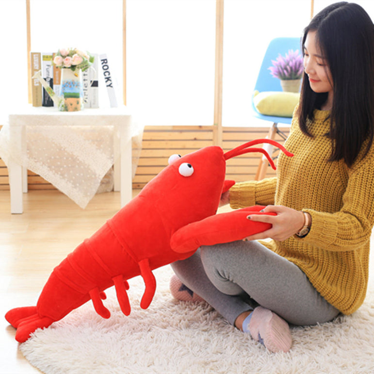Plush Stuffed Lobster Shape Pillow & Toy