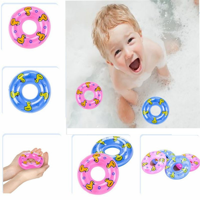 10 Pcs Swim Ring Float Raft for Rubber Ducks & Dolls