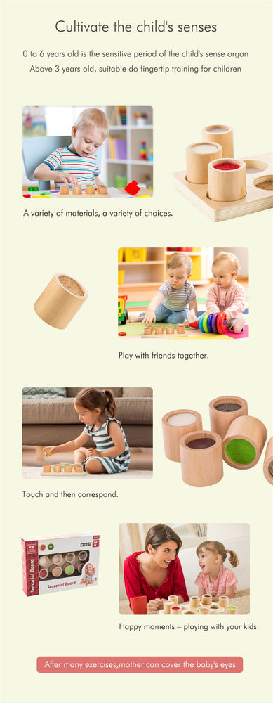 Touch and Match Board for Kids Sensory Toy