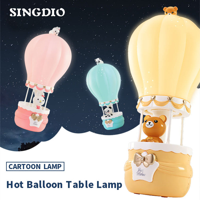 Cartoon Hot Air Balloon Lamp Toy & Night Light