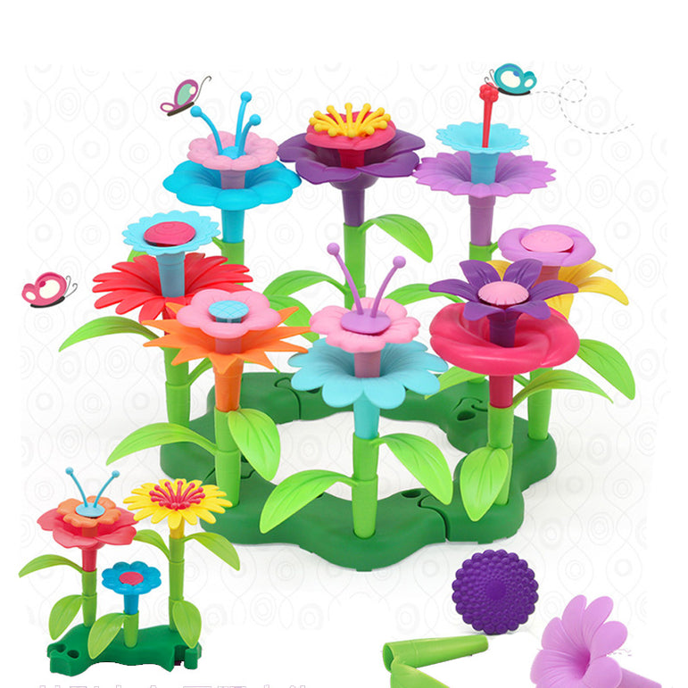 46 PCs Flower Building Toy Set