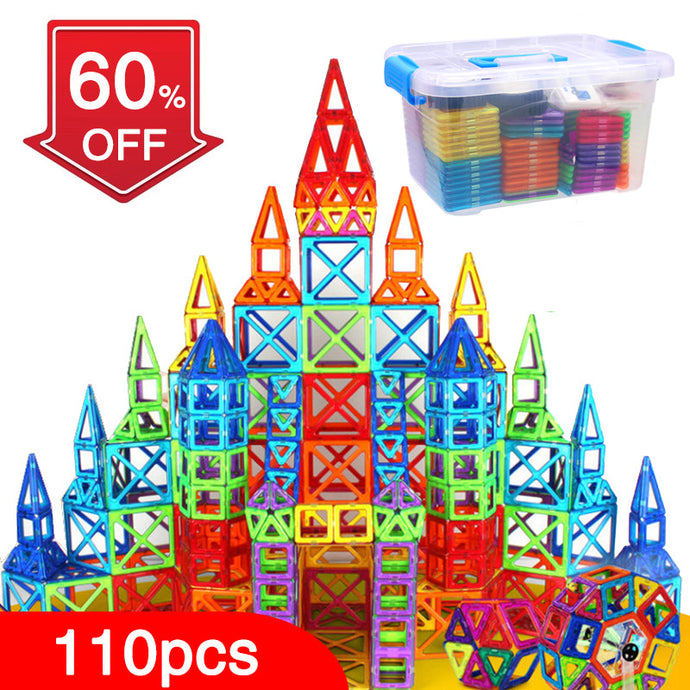 Magnetic Block Building Toy Set