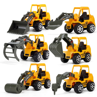 6 Pack Playset -  Friction Powered Push and Go Toy Cars