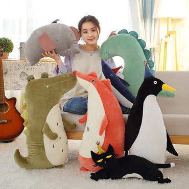 Panda Shark Penguin Elephant Cat Doll Stuffed & Plush Toy